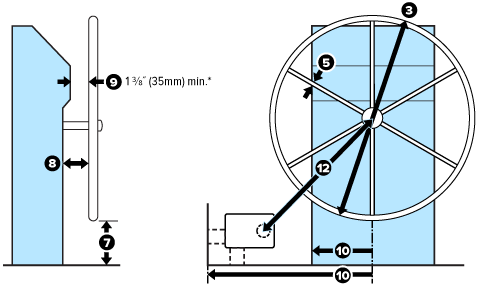 Drawing showing L-bracket measurements